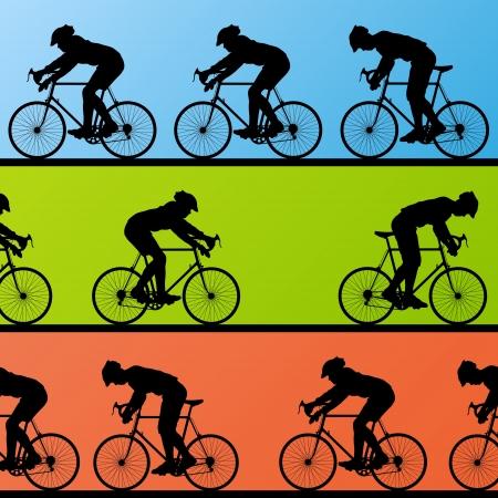 Cyclist leader winner background vector Stock Vector - 16289144