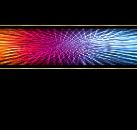 Neon abstract lines design on dark background  Vector