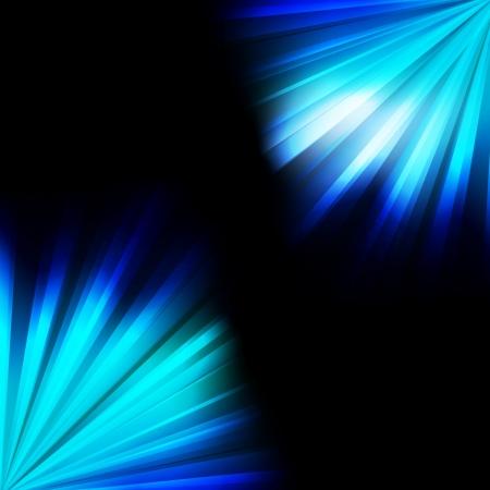 Blue burst light background for poster Vector