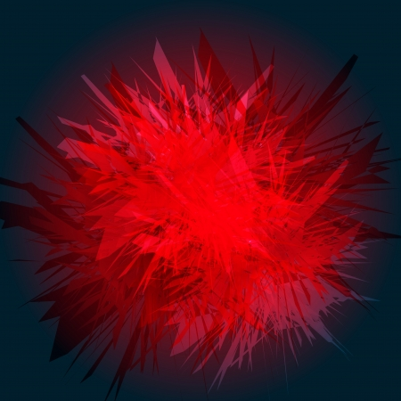Red explosion background for poster Vector