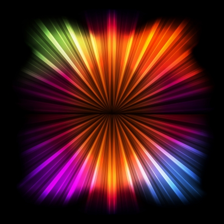 Abstract burst background with neon effects and colorful lights