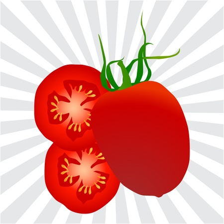 Tomato background for poster Stock Vector - 16932424