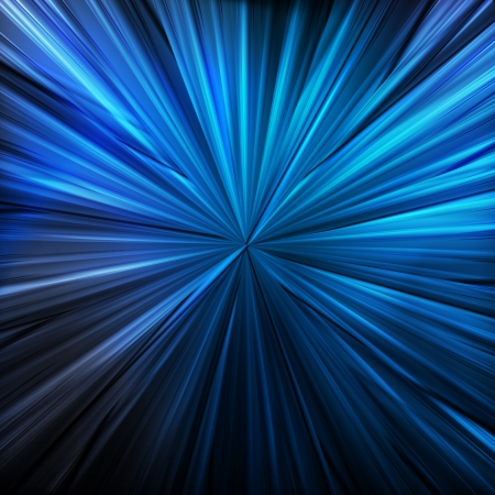 Blue abstract vector background concept with neon lines