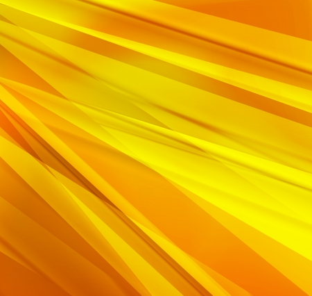 Yellow and orange lines abstract vector background concept Stock Vector - 17407945