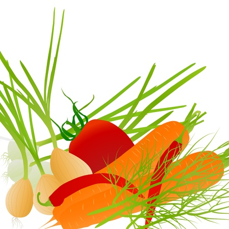 Ecology vegetables vector background for poster Stock Vector - 17408035