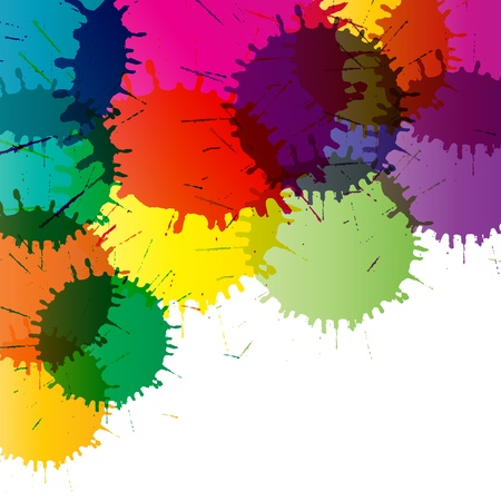 Abstract color splashes vector background for poster Vector
