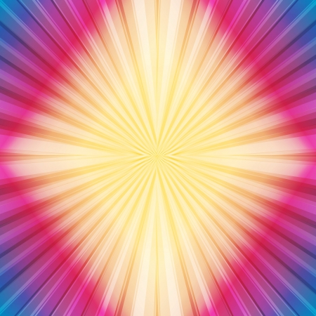 Colorful template with retro sun burst background Stock Vector - 17408192