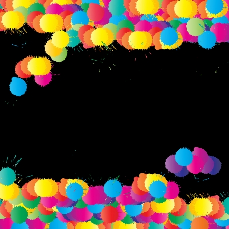 Color paint splashes vector background for poster Stock Vector - 17408221