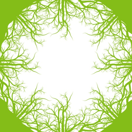 Green roots ecology background vector for poster Stock Vector - 17408215