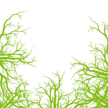 Green roots ecology background vector for poster Stock Vector - 17408168