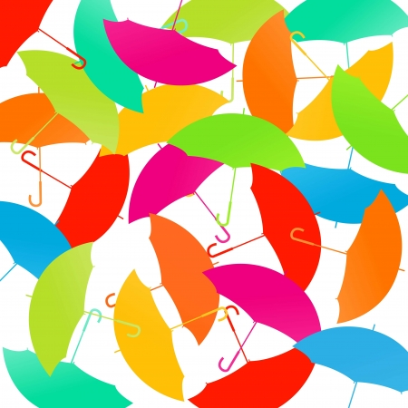 rainy days: Umbrellas vector abstract background concept