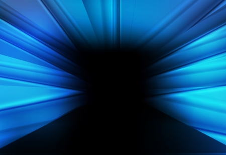 Blue tunnel vector abstract background concept Stock Vector - 17408136