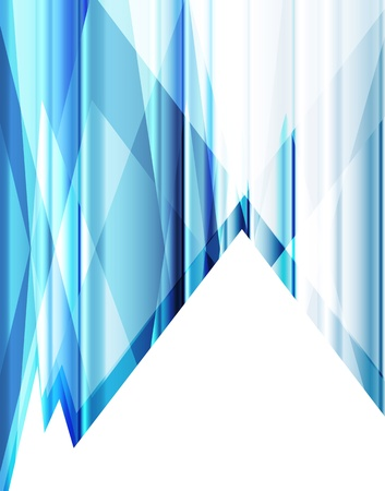 Blue abstract background vector neon template for poster Stock Vector - 17871050