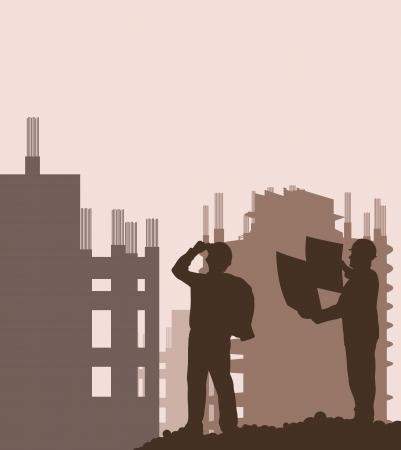 nadzór: Budowy i wektorowe in?ynier na plakat