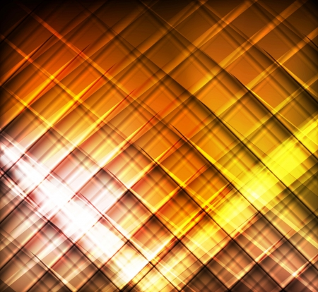 Yellow and orange lines abstract vector background Stock Vector - 17871176