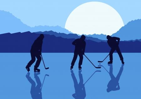 hockey rink: Ice hockey paisaje de fondo vector