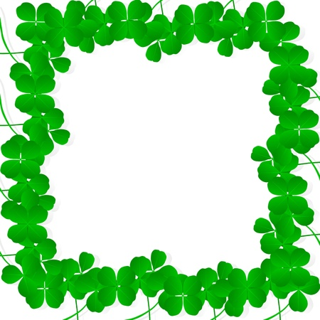 Irish four leaf lucky clovers happy St. Patrick's day background vector Stock Vector - 17871173
