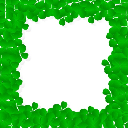 Irish four leaf lucky clovers happy St. Patricks day background vector Vector