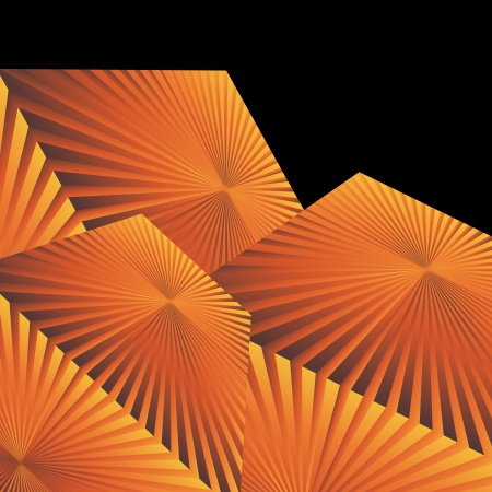 Yellow and orange lines abstract vector background for poster Stock Vector - 17870960