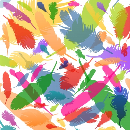 Colorful bird feathers background illustration vector Stock Vector - 17871241