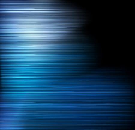 오로라: 블루 추상 자세한 빛 라인 벡터 배경 일러스트