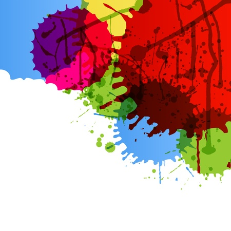 splotch: Abstract paint color splashes detailed background illustration vector Illustration