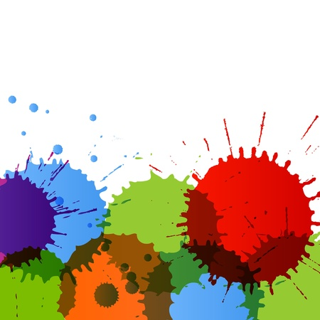 colour splash: Abstract paint color splashes detailed background illustration vector Illustration