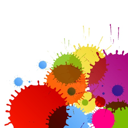 Abstract paint color splashes detailed background illustration vector Vector