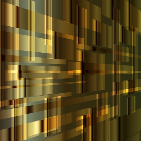 Gold abstract metal background vector with transparent elements Vector