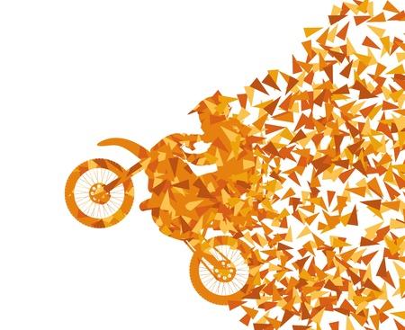 moto da cross: Moto concetto astratto vettore