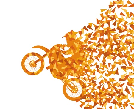 motocross riders: Motorcycle abstract background vector concept