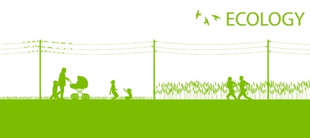 Green ecology planet vector background concept Stock Vector - 18581213