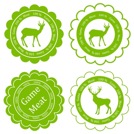 game meat: Game meat vector background label stamp green ecology concept Illustration