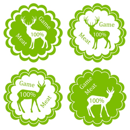 rut: Game meat vector background label stamp green ecology concept Illustration