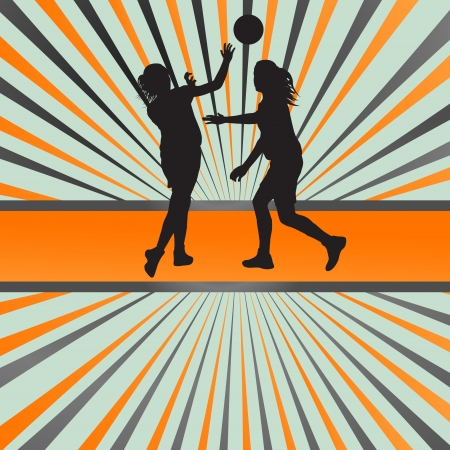 Women basketball vector background Vector