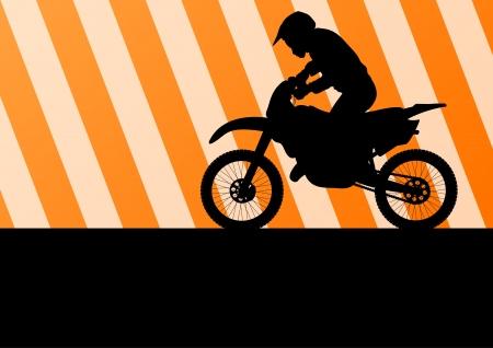 Motorbike rider motorcycle silhouette vector Vector