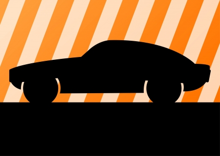 Car vector background Vector