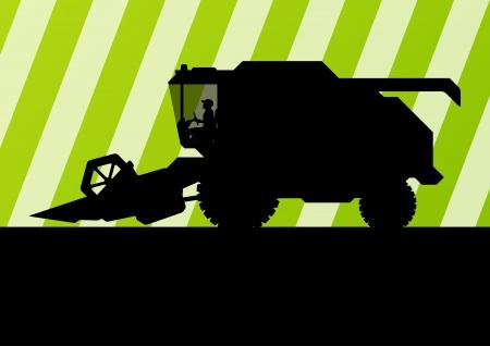 cosechadora: Agr�cola cosechadora agr�cola estacional concepto de la ecolog�a del paisaje