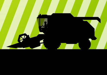 combine harvester: Agricultural combine harvester seasonal farming landscape ecology concept