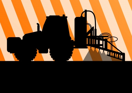 agriculture industry: Agriculture tractor background illustration vector