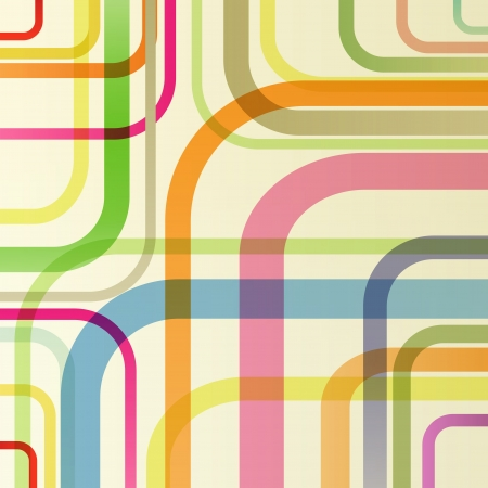 Abstract retro lines background vector concept for poster Vector