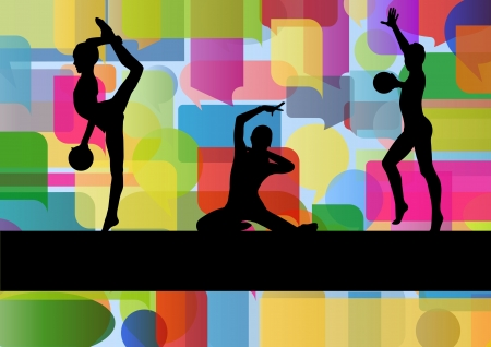 Gymnast with ball vector Stock Vector - 19181866