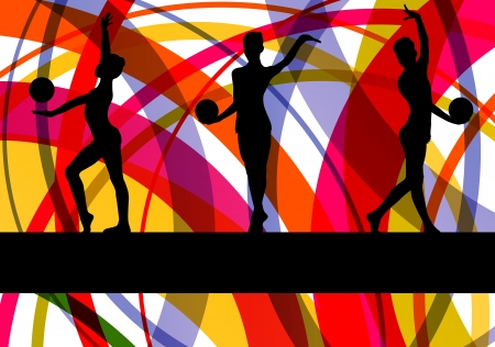 Gymnast with ball vector Stock Vector - 19181809