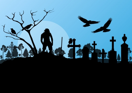 Halloween background vector Vector