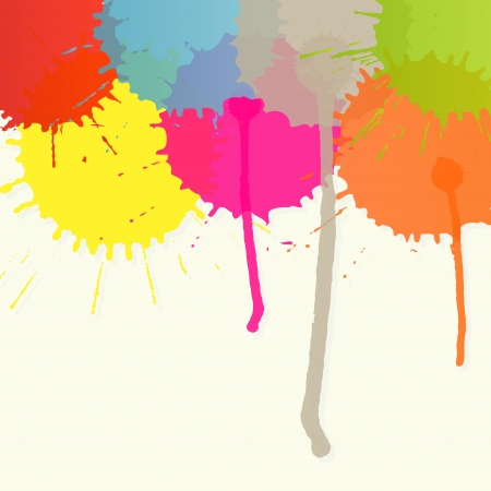 Abstract paint color splashes detailed background illustration Vector