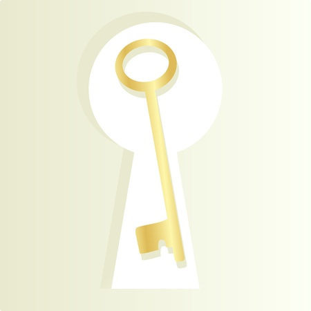 key hole: Golden key and keyhole background concept
