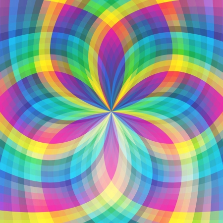 Rainbow abstract light transparent background vector Vector