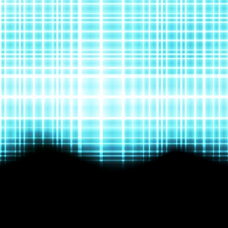 flux: Abstract blue neon background template for poster