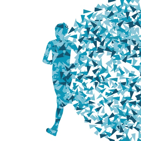 Runner abstract background