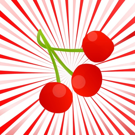 Red cherry berries background for poster Stock Vector - 20899515